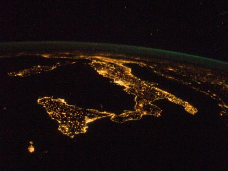 The Boot of Italy as seen from space.